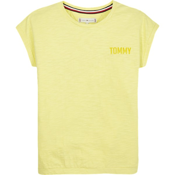 Pure Cotton Logo T-shirt Lemonade - Tommy Hilfiger