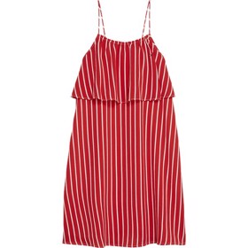 Fine Stripe dress true red - Tommy Hilfiger