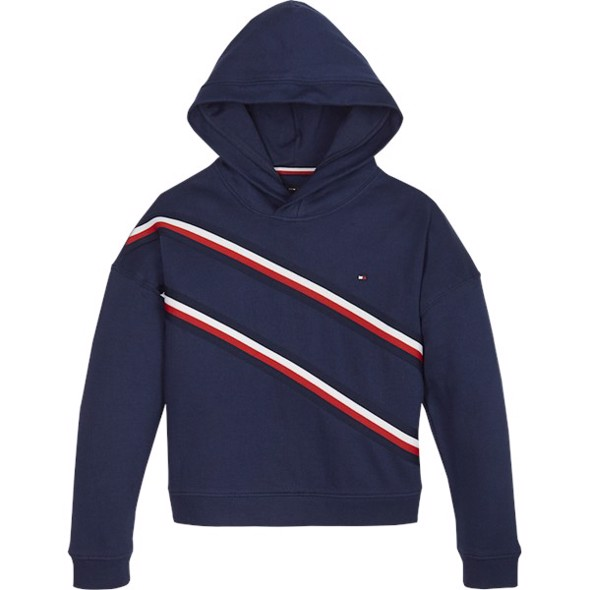 Girls knitted tape hoody - Tommy Hilfiger