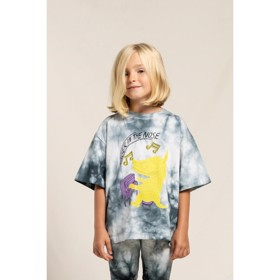 T-Shirt King soft black Tie & Dye Piano - Finger in the Nose