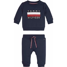 Baby Tommy Trachsuit Sett Black iris - Tommy Hilfiger