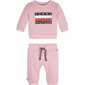 Baby Tommy Trachsuit Sett Sea Pink - Tommy Hilfiger
