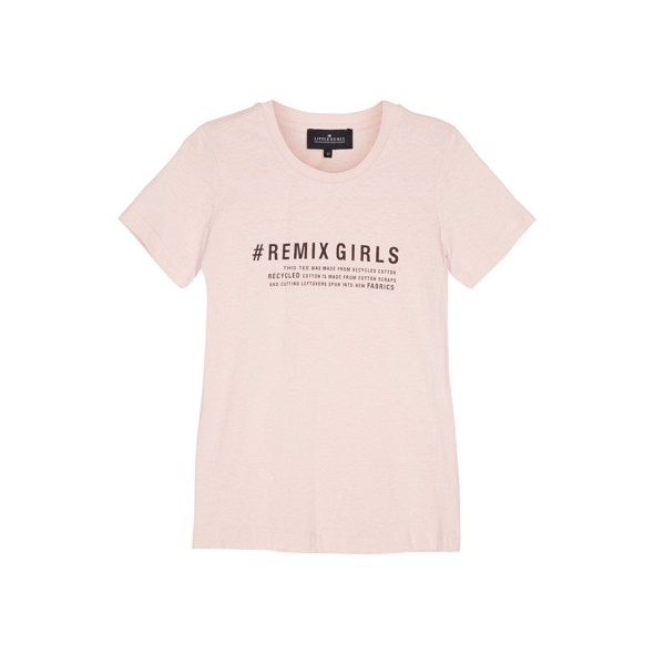 LR Stanley Text tee pink - Designers Remix girls