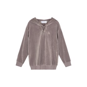 Frances Hoodie velour Taupe - Designers Remix girls