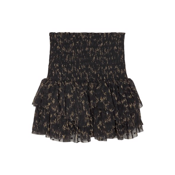 Kiely Short Skirt Black/camel print - Designers Remix girls