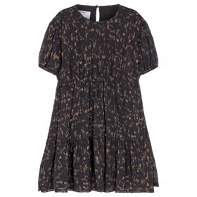 Kiely dress Black/camel print - Designers Remix girls