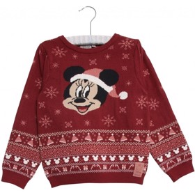 Disney babystrik Minnie burgundy - Wheat