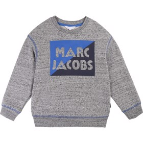 Logo Sweatshirt grå/blå - Little Marc Jacobs