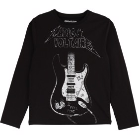 Tee long sleeves print black - Zadig & Voltaire