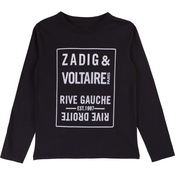 Logo Tee long sleeves navy - Zadig & Voltaire
