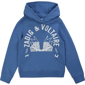 Hooded sweatshirt print blue -  Zadig & Voltaire
