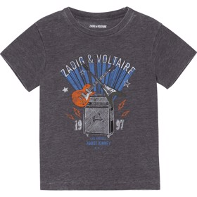 T-shirt m. print Slate blue -  Zadig & Voltaire