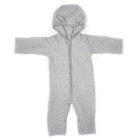 Dragt cotton fleece med ører L.grey - Huttelihut
