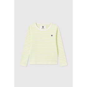 Kim kids long sleeve off-white/green - Wood Wood