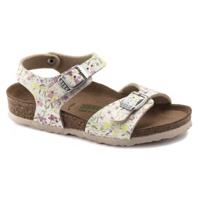 Sandaler Rio Plain Watercolor Flower White - Birkenstock