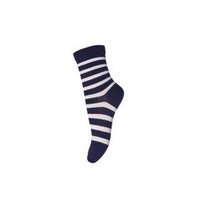 Uldstrømper, Ankle Wool Elis, blue/white - MP