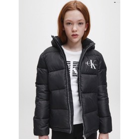 Girls recycled polyester puffer jacket sort - Calvin Klein