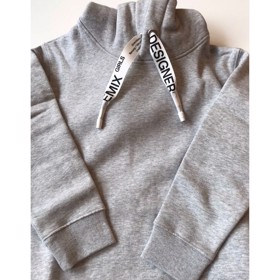 Parker String Hoodie Light Grey Melange - Designers Remix girls
