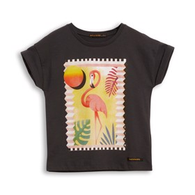 New Britney T-Shirt Ash black flamingo - Finger in the Nose