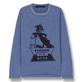 Bluse Nico Kraft Skate Cat blue - Finger in the Nose