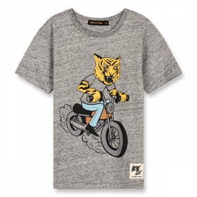 Dalton grey moto T-Shirt - Finger in the Nose