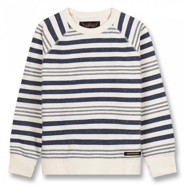 Hank Indigo Stripes  Sweatshirt - Finger in the Nose
