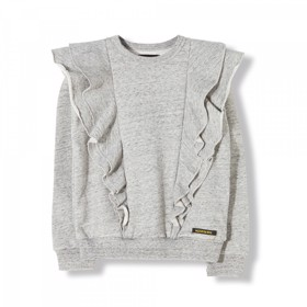Shibuya Heather grey girls Sweatshirt - Finger in the Nose