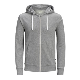 Zip hoddie grey melange  - Jack & Jones jr