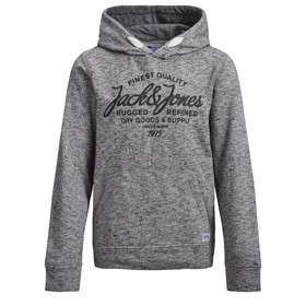 Logoprint hoddie light grey - Jack & Jones jr