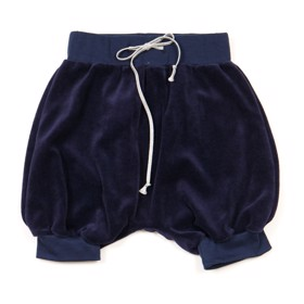 Velour bloomers/shorts navy - Huttelihut
