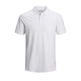 Plain polo hvid - Jack & Jones junior