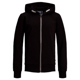 Zip hoddie black- Jack & Jones jr