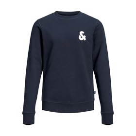 Logo sweat crew neck navy blazer  - Jack & Jones jr