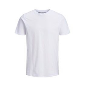 Basis organic Tee O-neck hvid - Jack & Jones junior