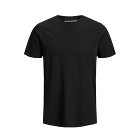 Basis organic Tee O-neck sort - Jack & Jones junior
