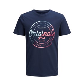 T-shirt JoRLogo Crew Neck Total Eclipse - Jack & Jones jr