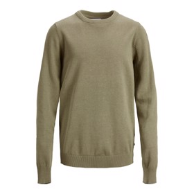 Basic strik crew neck Dusky Green - Jack & Jones jr