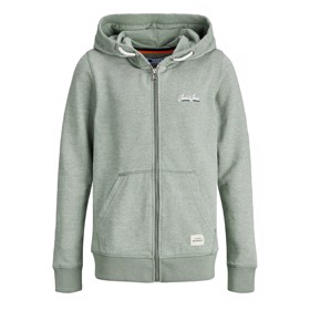 Jortons Zip Hoodie, Sea Spray Melange - Jack & Jones Junior