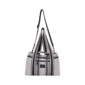 Small Bag Muriel Kufiya Off-White Black - Lala Berlin