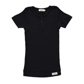 T-shirt Modal m. knapper sort - MarMar