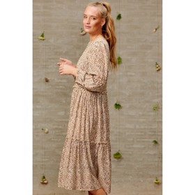 Ciello Dress Viscose Brown Leo - Noella