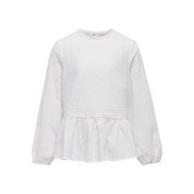 Broderie Anglaise top hvid - Kids Only
