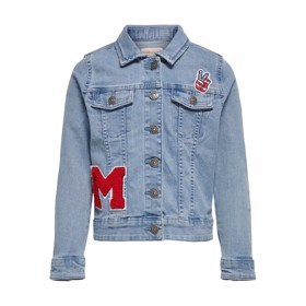 Soda Bagde Denimjakke medium blue  - Kids Only