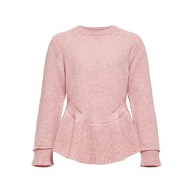 Strik med peplum, Blush - Kids Only