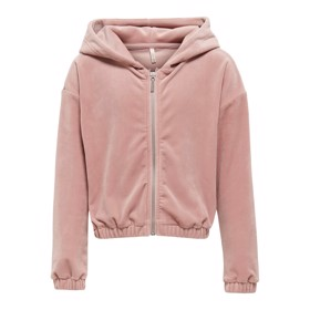 Laya Velvet Zip Hoody Adobe Rose - Kids Only