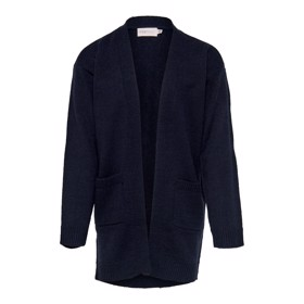 Konima lang strikket cardigan sort - Kids Only