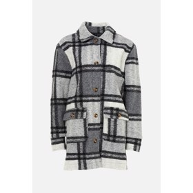 Rai Jacket Grey Checks - Noella