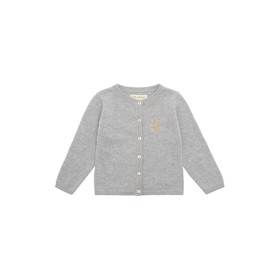 Carrie Cardigan grey melange Mini Owl Emb - Soft Gallery