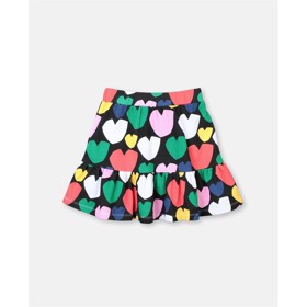 Multicolor Hearts Fleece Skirt - Stella McCartney