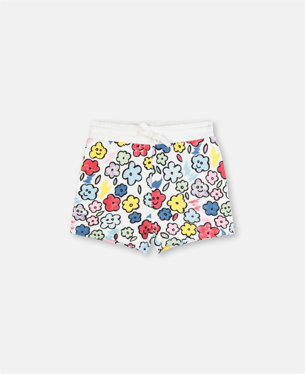Smiling Flowers Fleece Shorts - Stella McCartney